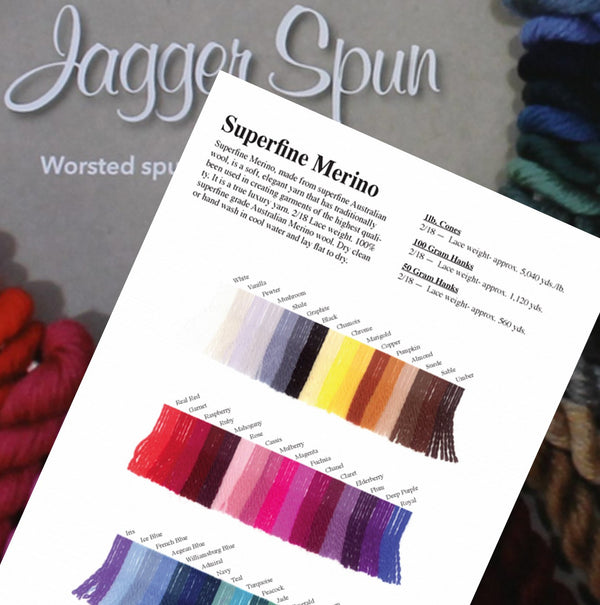 Merino Sample Card - Jagger Spun