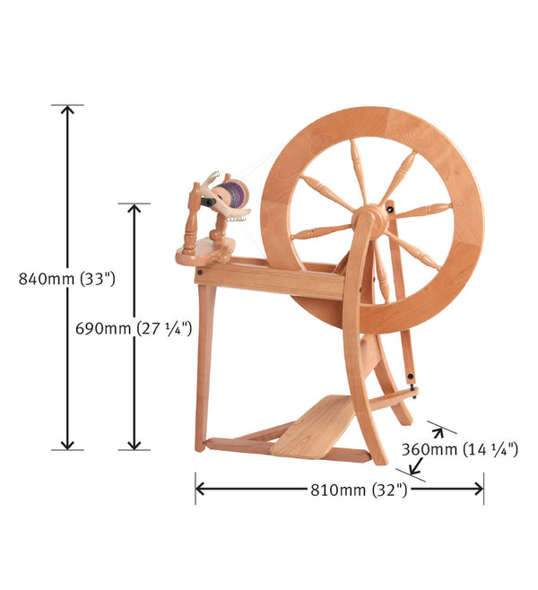 Traditional Spinning Wheel - Single Drive or double drive