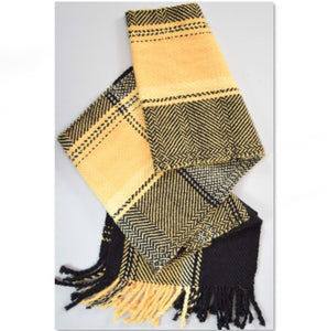 """Yellow scarf kit for the course """"The basis of weaving"""""""
