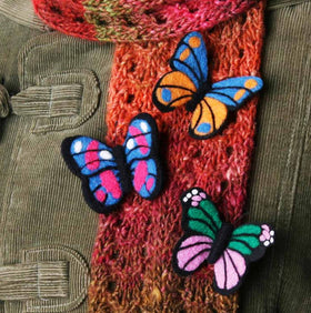 Ashford Needle felting kit - Butterfly broach