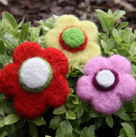 Ashford Needle felting kit - Flowers