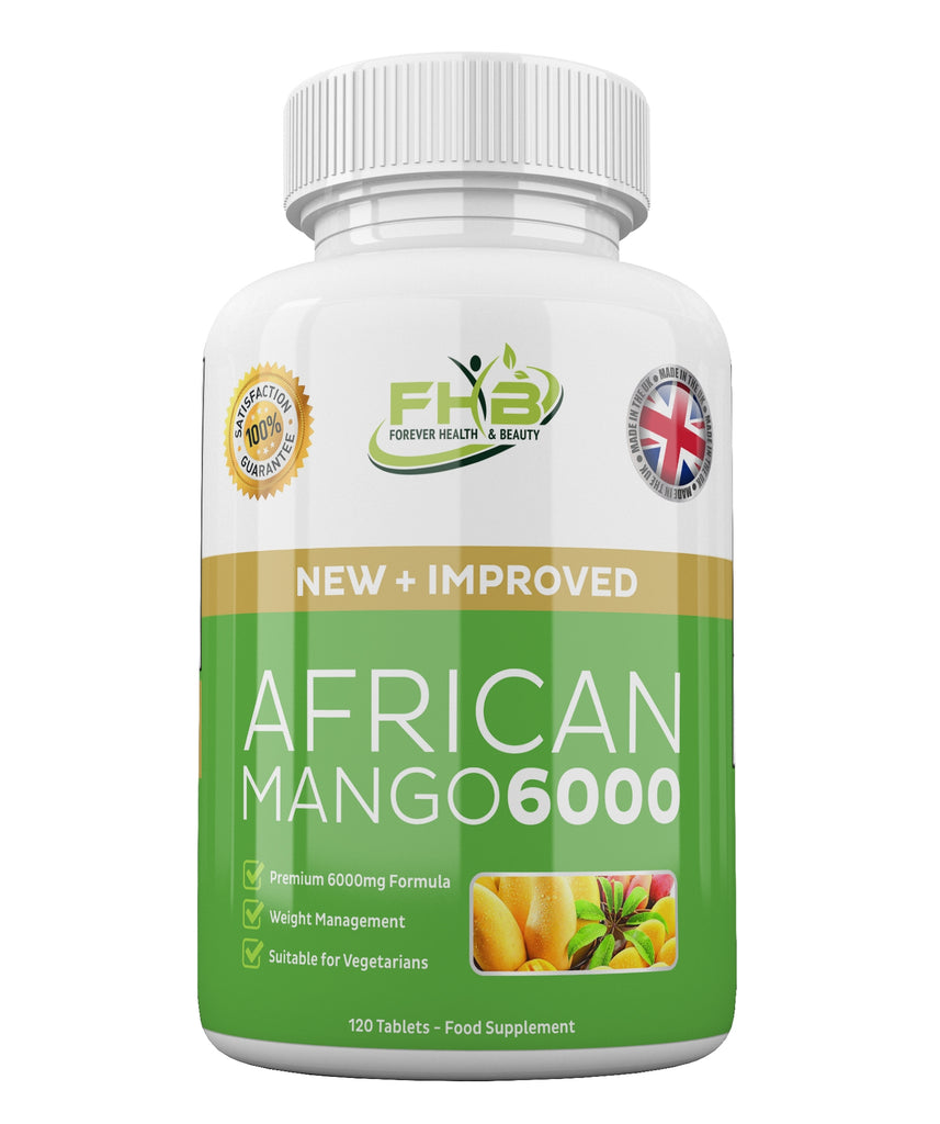 African Mango 6000 Leptin Fat Burner Lose Weight Fast 120 High Strength Diet Pills