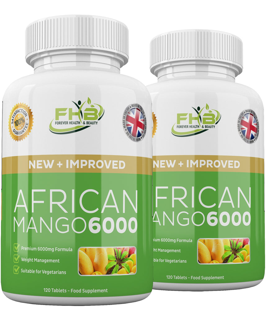 African Mango 6000 Leptin Fat Burner Lose Weight Fast 240 High Strength Diet Pills