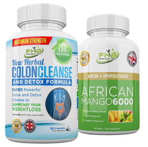 Natural Colon Cleanse & African Mango 6000 Weight Managament - 120 Capsules