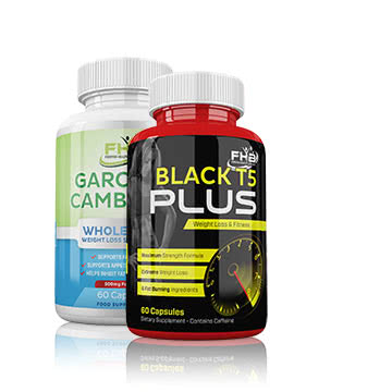 Carcinia Cambogia & Black T5 Plus Weight Loss & Fitness Combo - 120 Capsules
