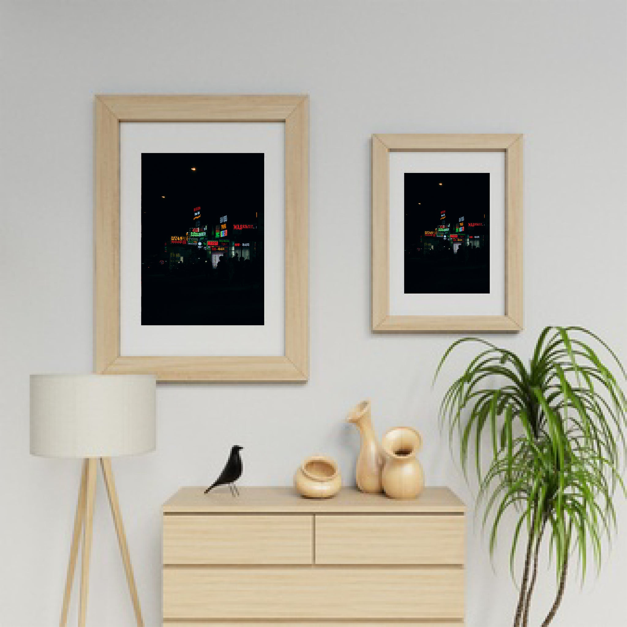 art prints on a wall