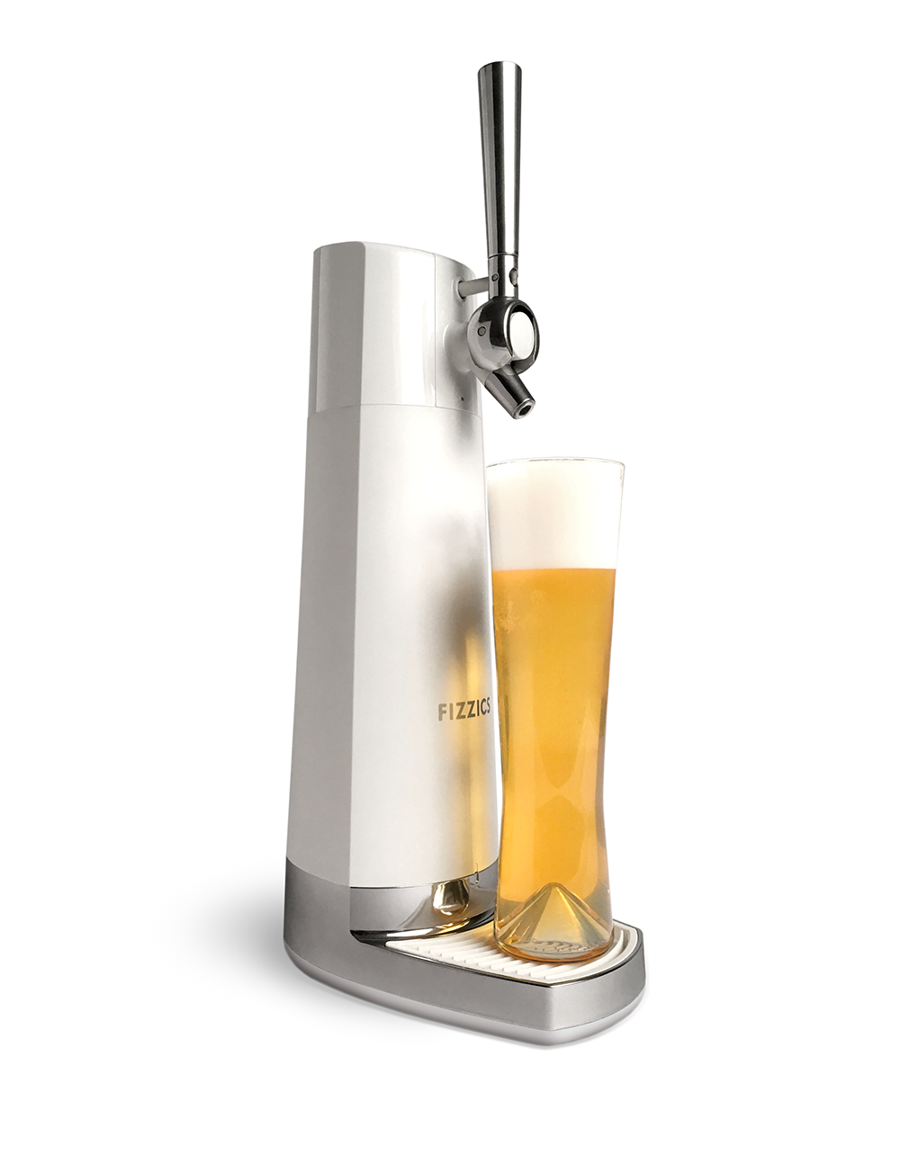fizzics draft pour ice with draft beer on stand png
