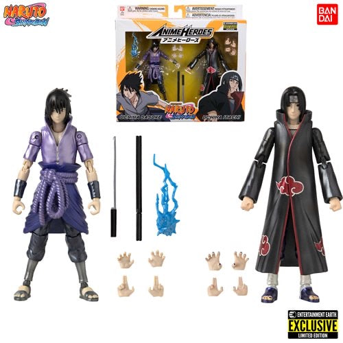 Naruto: Shippuden Anime Heroes Itachi and Sasuke Uchiha Action Figure 2-Pack - Entertainment Earth Exclusive