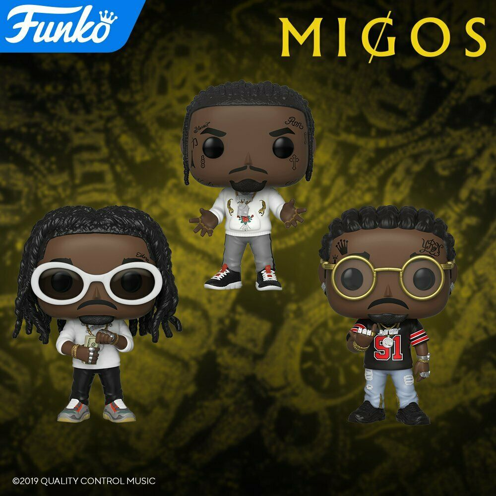 Funko Pop! Rocks Migos - Full Set #108-110 Offset, Quavo, Takeoff