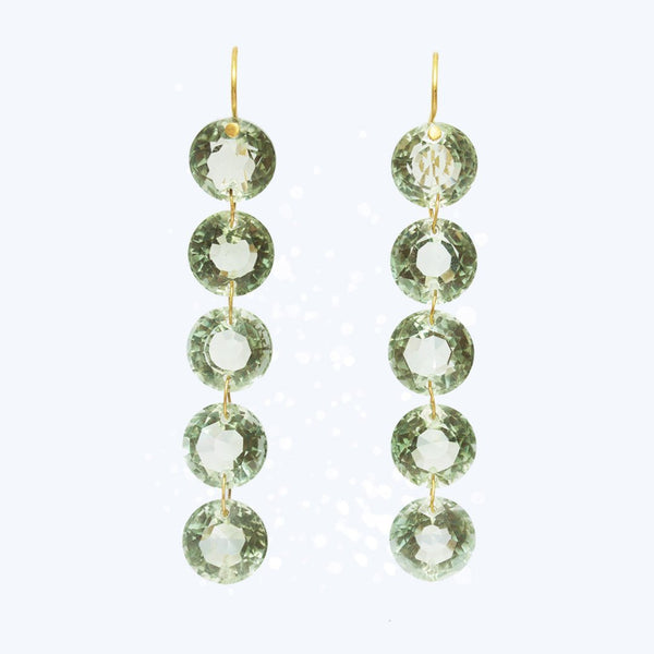 Green Quartz Rivières Earrings