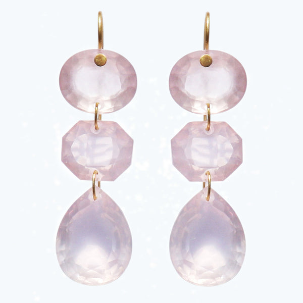 Pink Quartz La Favorite Earrings