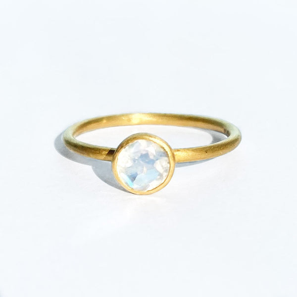 Rainbow Moonstone Mini Princess Ring