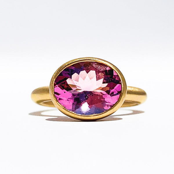 Morganite Princess Ring