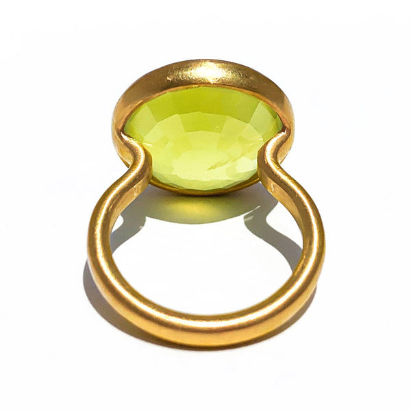 Prehnite Princess Ring