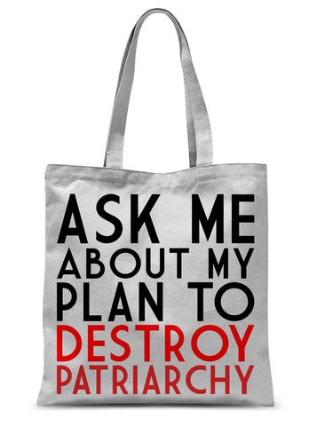 Ask Me About My Feminist Plan Tote Bag