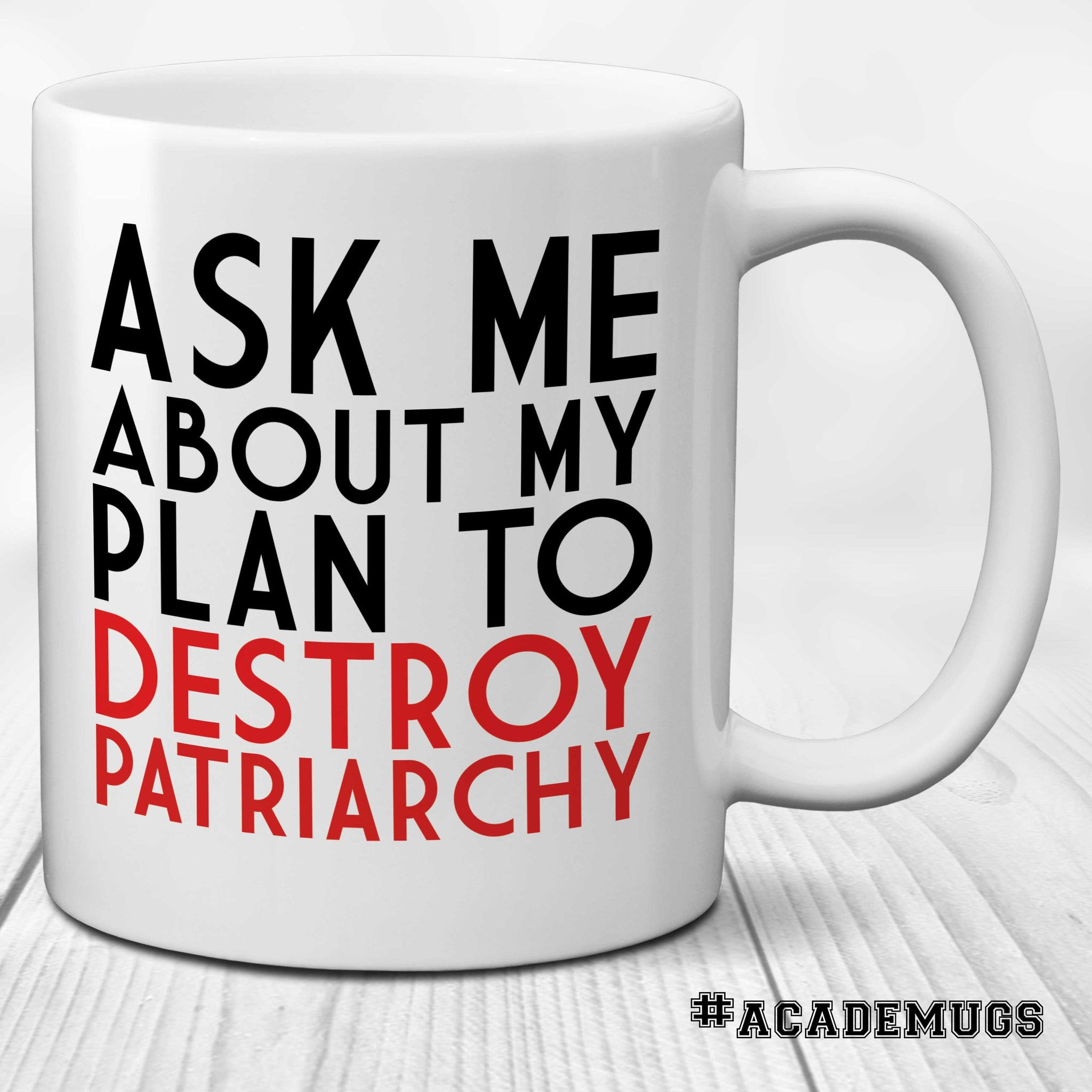 Feminist Mug: Ask Me About My Plan to Destroy Patriarchy