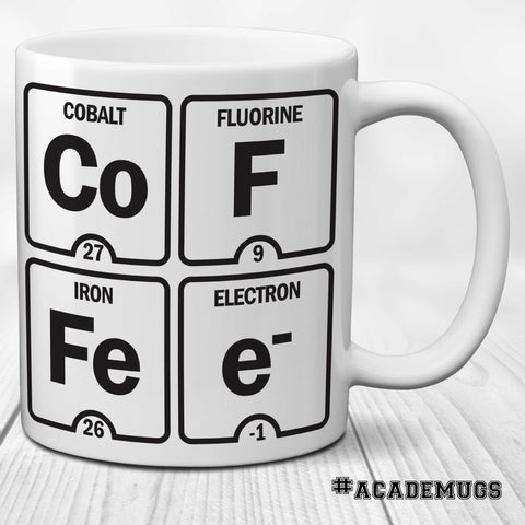 Coffee: Funny Periodic Table of Elements Science Mug