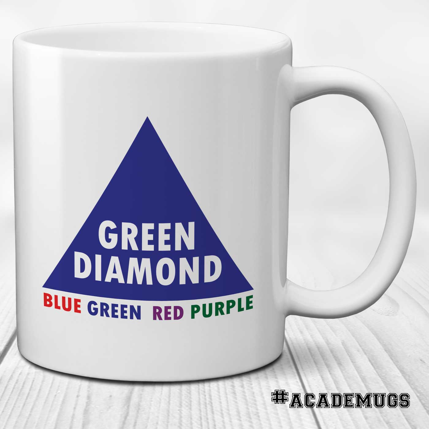 Stroop Effect Mug: Green Diamond