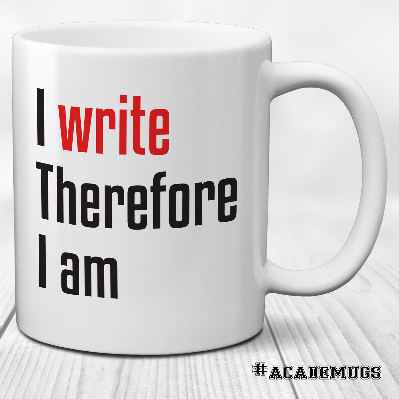 I Write Therefore I Am