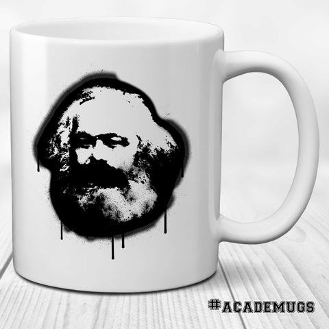 Karl Marx Spray Paint Mug