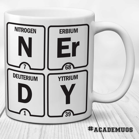 Table of Elements Science Mug: NERDY