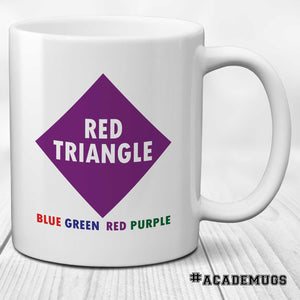 Stroop Effect Mug: Red Triangle