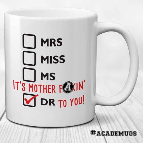 Women's PhD Graduation Mug