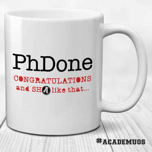 PhDone - PhD Graduation Gift