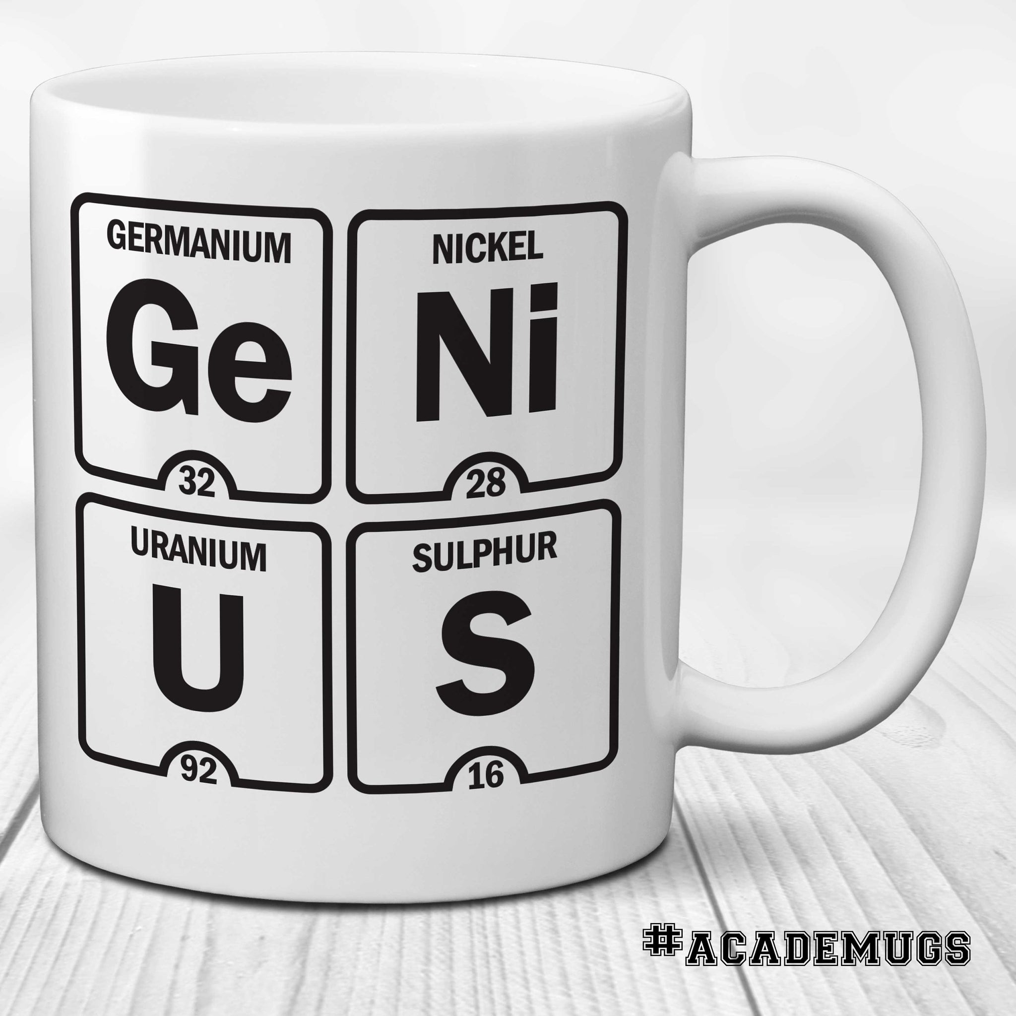 Table of Elements Mug: Genius