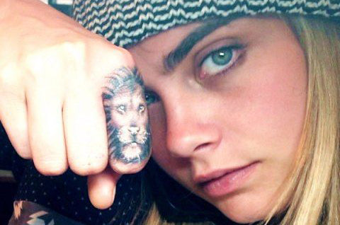 Tatouage Lion Cara Delevingne