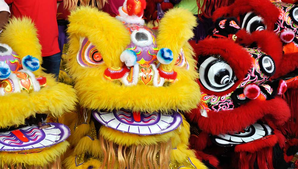 costume lion chinois