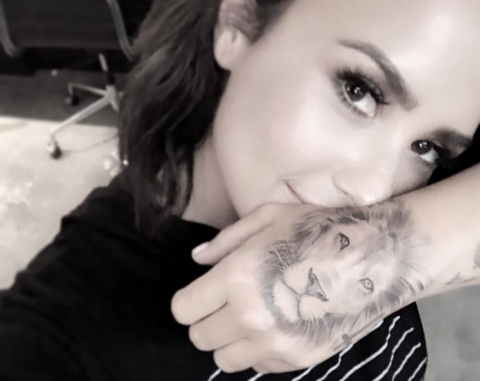 Demi Lovato Tatouage Lion