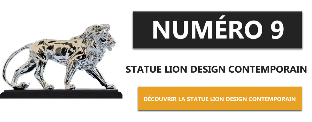 Statue Lion Design Contemporain