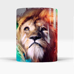 mug lion couleur de face