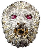 Bague Lion Or Rubis