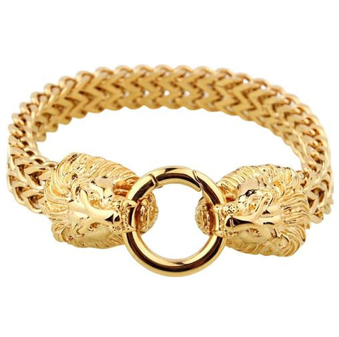 Bracelet En Or Tete De Lion