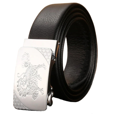 ceinture marron lion tete