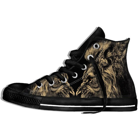 chaussure animaux lions