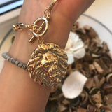 Collier Couleur Or Lion