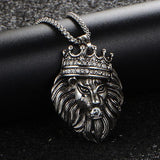 Collier Lion Couronne