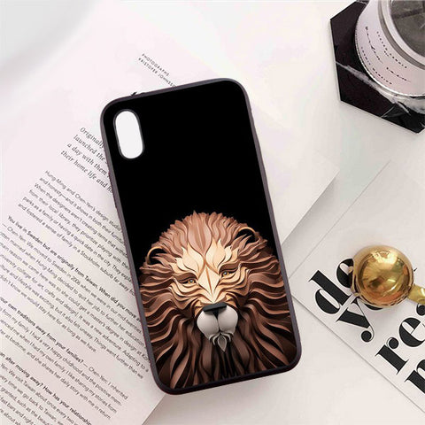 coque 3d lion