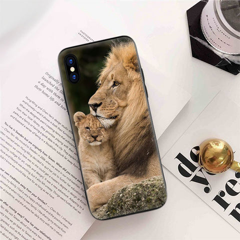 coque de telephone lion