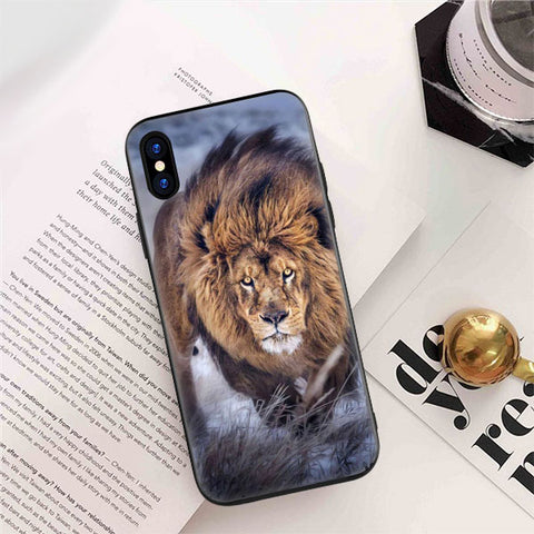 coque iphone 5 animaux lion