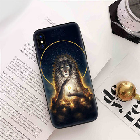 coque iphone 7 silicone lion