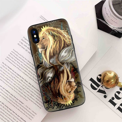 coque iphone 8 tete de lion