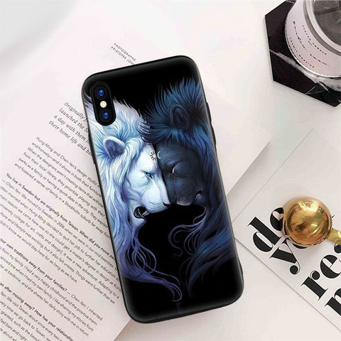 coque iphone silicone lion