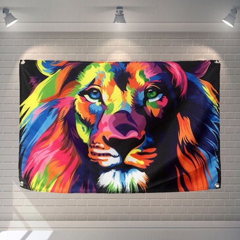 Drapeau Lion Multicolore