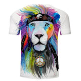 hippie félin t shirt