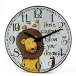 Horloge Lion Follow Your Dream