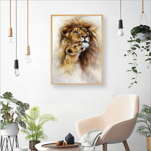 Poster Famille Lion